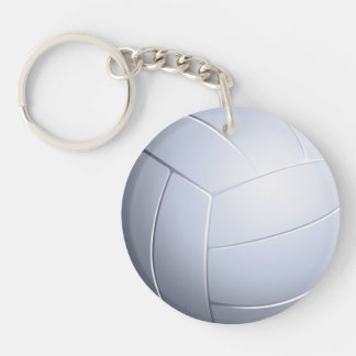 Volleyball Double-Sided Round Acrylic Key Ring
