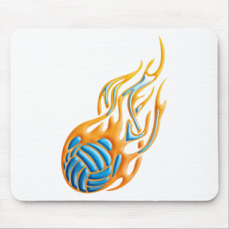 Volleyball Fireball Mouse Mat