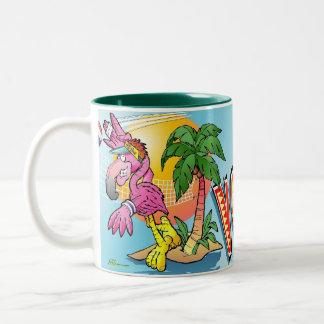 Volleyball Flamingo Mug