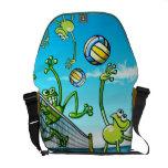 Volleyball Frog Messenger Bag