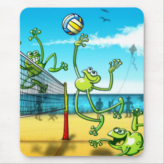 Volleyball Frog Mouse Mat