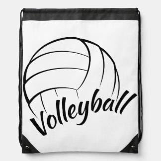 Volleyball Fun Drawstring Bag