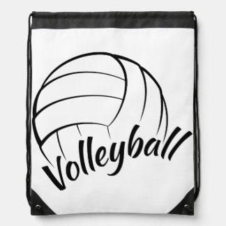 Volleyball Fun Drawstring Bags
