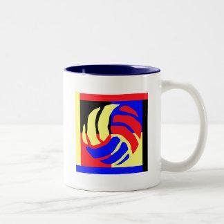 Volleyball Gift Two-Tone Coffee Mug