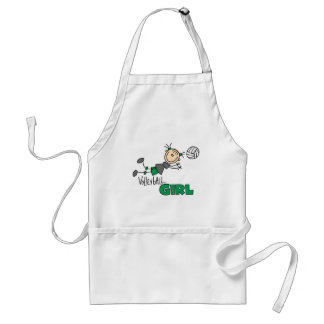 Volleyball Girl Adult Apron