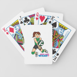 Volleyball Girl Bicycle Playing Cards