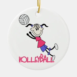 Volleyball Girl Christmas Ornament