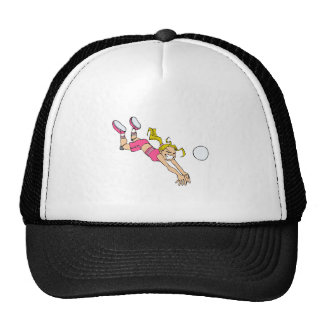 Volleyball Girl Dive Mesh Hats