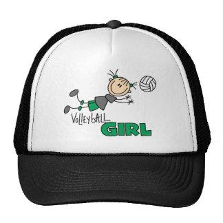 Volleyball Girl Mesh Hats