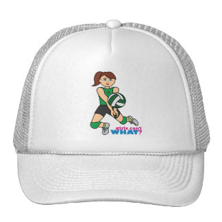 Volleyball Girl Trucker Hats