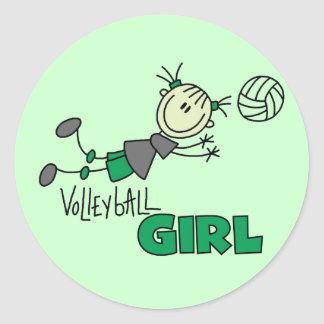 Volleyball Girl Tshirts and Gifts Classic Round Sticker