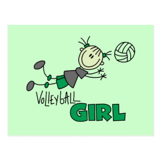 Volleyball Girl Tshirts and Gifts Postcard