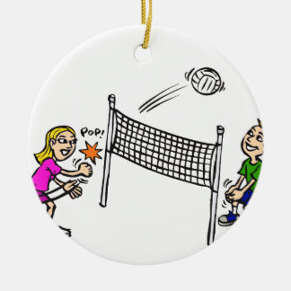 Volleyball girl vs boy christmas ornament
