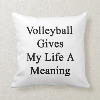 Volleyball Gives My Life A Meaning Cushion