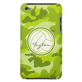 Volleyball green camo camouflage iPod touch case