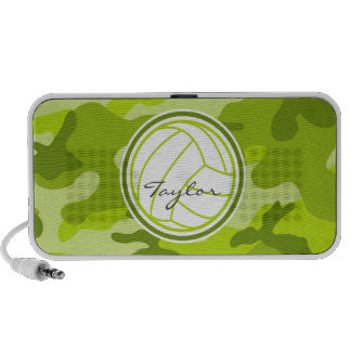 Volleyball green camo camouflage speaker system
