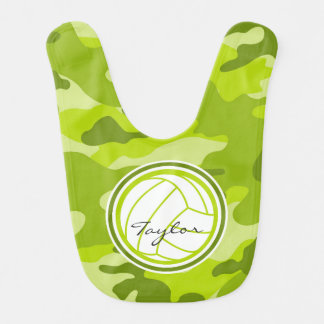 Volleyball green camo camouflage bib