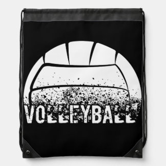 Volleyball Grunge Drawstring Bag