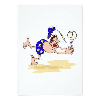 Volleyball guy 13 cm x 18 cm invitation card