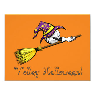 Volleyball Halloween Witch Card