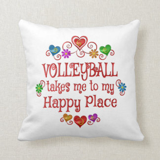 Volleyball Happy Place Cushion