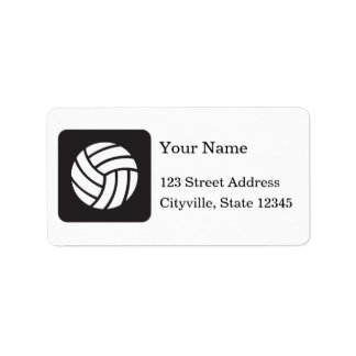Volleyball Icon Label