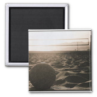 Volleyball in the Sand Square Magnet