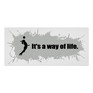Volleyball is a Way of Life (Female) Poster
