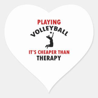 volleyball is cheaper heart sticker