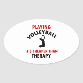 volleyball is cheaper oval sticker