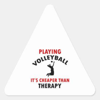 volleyball is cheaper triangle sticker