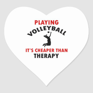 volleyball is cheaper heart stickers