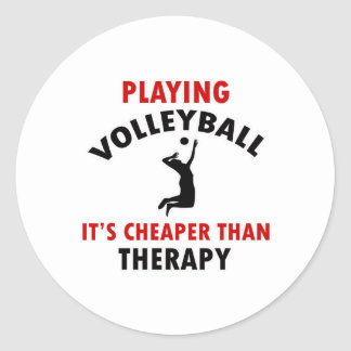 volleyball is cheaper round sticker