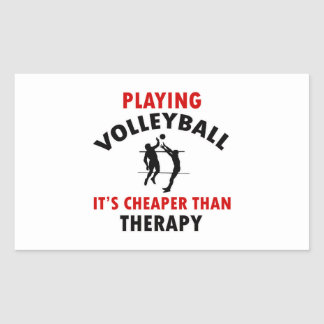 volleyball is cheaper rectangle sticker