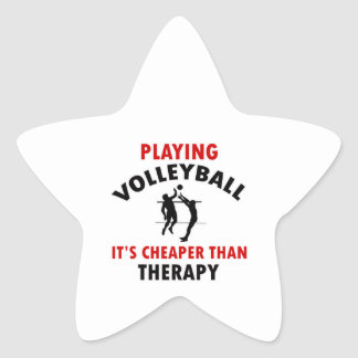 volleyball is cheaper star stickers