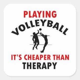 volleyball is cheaper square sticker