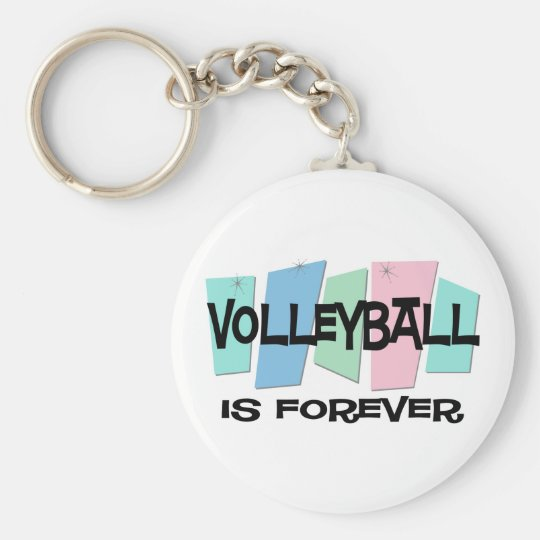Volleyball Is Forever Basic Round Button Key Ring