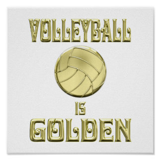 Volleyball is Golden Poster