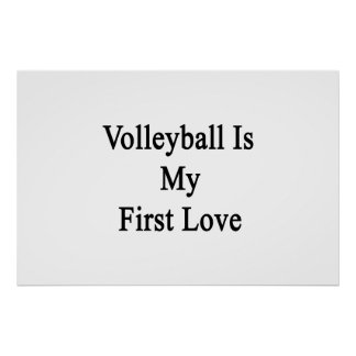 Volleyball Is My Fist Love Poster
