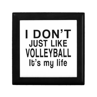 VOLLEYBALL IS MY LIFE SMALL SQUARE GIFT BOX