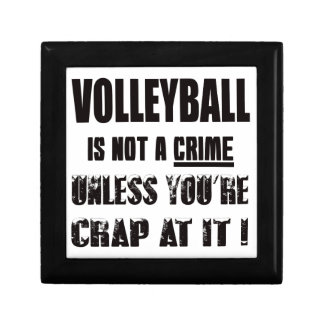 Volleyball is not a crime small square gift box