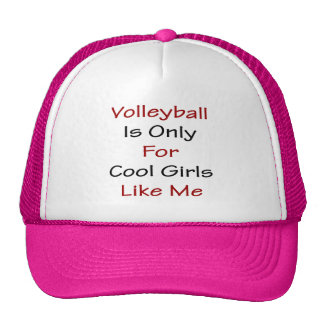 Volleyball Is Only For Cool Girls Like Me Mesh Hat