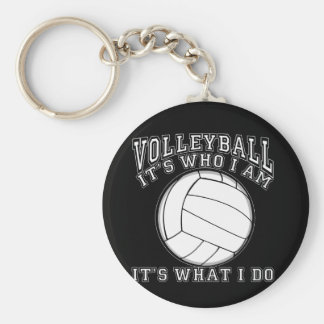 Volleyball - It's Who I Am Basic Round Button Key Ring