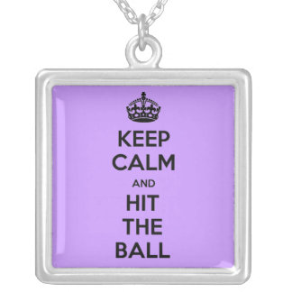 Volleyball Keep Calm and hit necklace