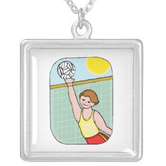 Volleyball kid custom necklace