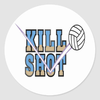 Volleyball: Kill Shot Classic Round Sticker
