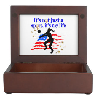 VOLLEYBALL LIFE USA FLAG DESIGN MEMORY BOX