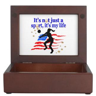 VOLLEYBALL LIFE USA FLAG DESIGN MEMORY BOX
