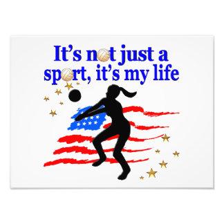VOLLEYBALL LIFE USA FLAG DESIGN PHOTO