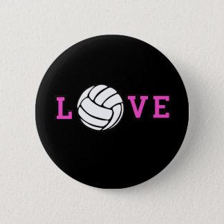 Volleyball Love 6 Cm Round Badge